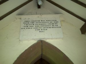 photo of plaque at St Paul's church