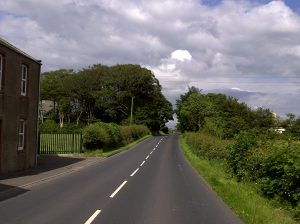 photo of main road past Longcummercattiff farm